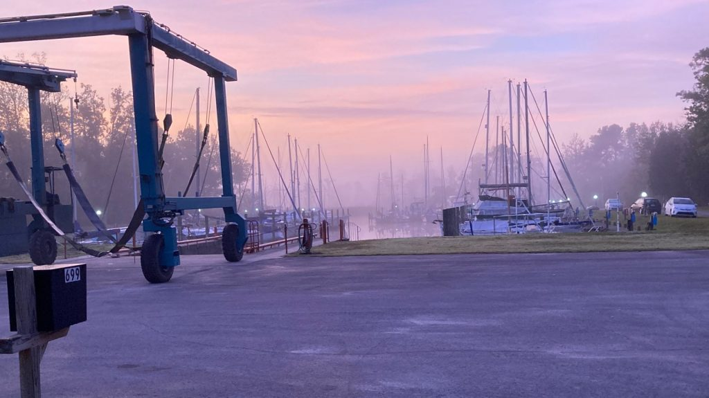 Early October morning at the marina